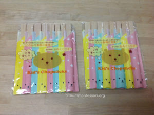Kids chopsticks from Japan - Trillium Montessori