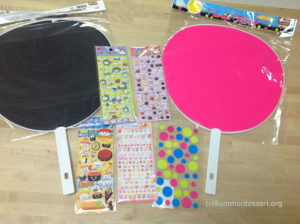 Secorate Japanese Fan with Stickers- Trillium Montessori