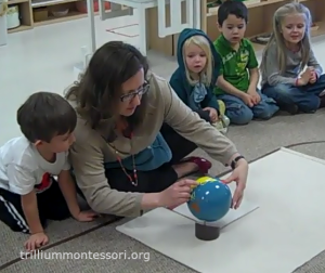 Japan on the globe- Trillium Montessori