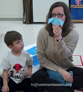 Origami Demonstration- Trillium Montessori