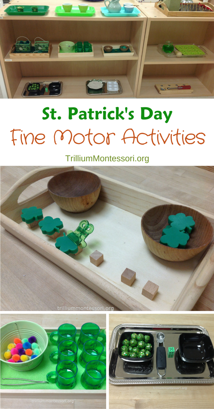 St Patricks Day Montessori Fine Motor Activities for March