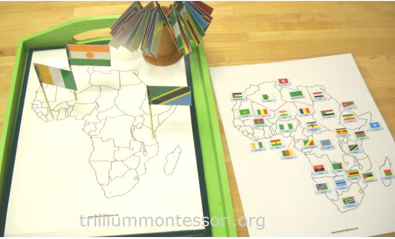 The continent of africa trillium montessori pin map at trillium montessori gumiabroncs Images