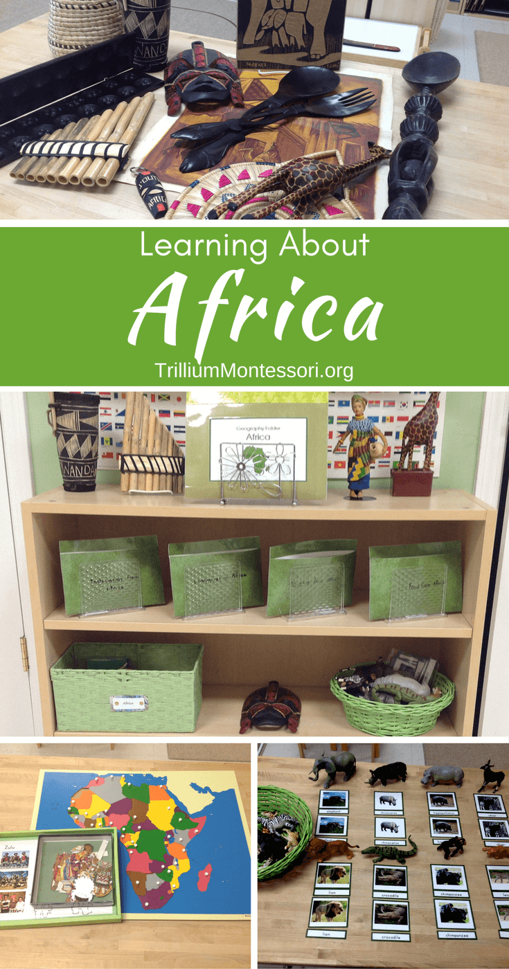 Preschool activities for learning about the continent of Africa