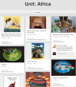 Trillium Montessori's Africa Pinterest Board