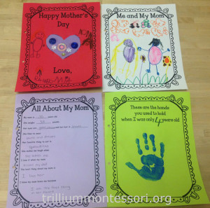 Mothers Day Card at Trillium Montessori