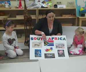 Learning about South Africa - Trillium Montessori