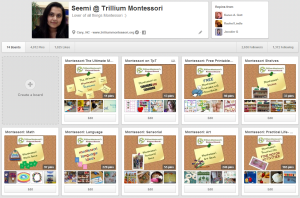 Trillium Montessori Pinterest Boards