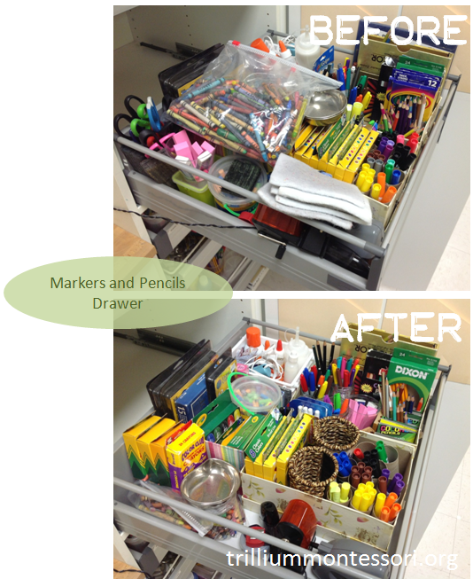 Markers and Pencils Drawer