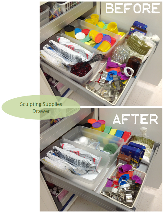 Sculpting Supplies Drawer