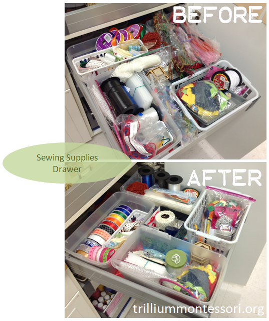 Sewing Supplies Drawer
