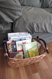 Basket of Books from Peaceful Parenting
