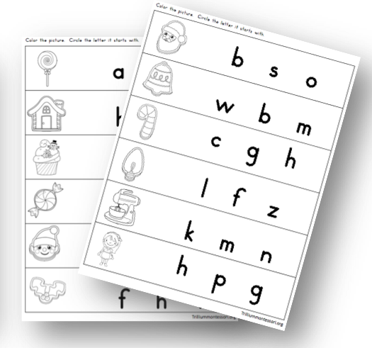 Initial Letter Recording Sheets
