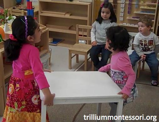 Preschool Thanksgiving Feast- Arranging Tables