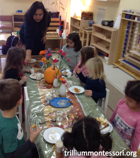 Preschool Thanksgiving Feast- Table