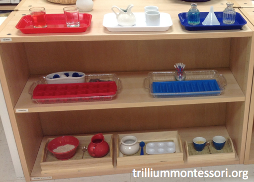 Red White and Blue Fine Motor Shelf