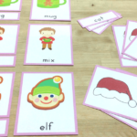 December and Christmas themed printables for preschool and kindergarten