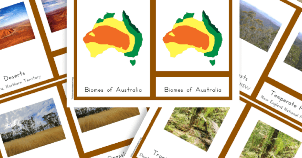 Free Printable Biomes of Australia