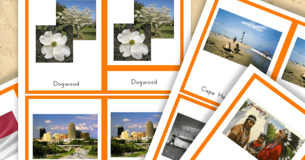 Free Printable Symbols Of North Carolina Trillium Montessori