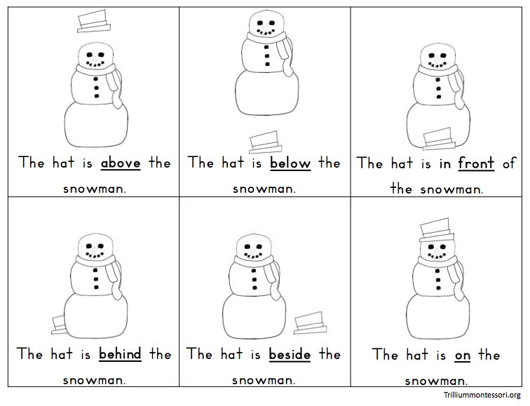 Montessori And Preschool Printables For Winter - Trillium Montessori
