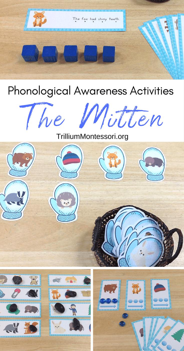 The Mitten by Jan Brett: Phonological Awareness Activities