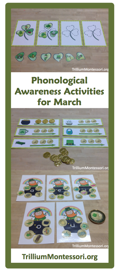St Patricks Day Phonological Awareness Activities Trillium Montessori