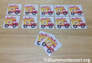 Valentine Vehicles Alphabet Cards