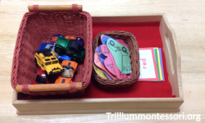 Valentine Vehicles- Color Sorting Tray