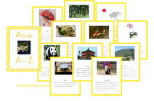 Asia A Z Printable Cards about East Asia