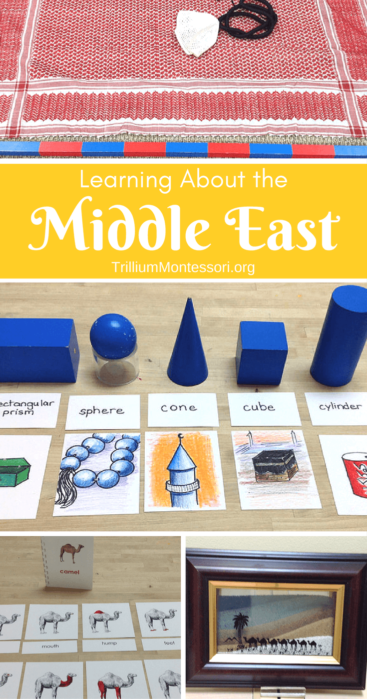 Preschool Montessori Activities for Learning About the Middle East