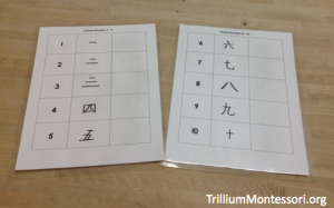 Learning how to write numbers in Chinese