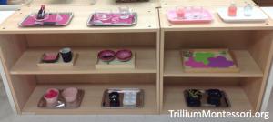 Fine Motor Shelf Pink to go with Montessori South America Unit