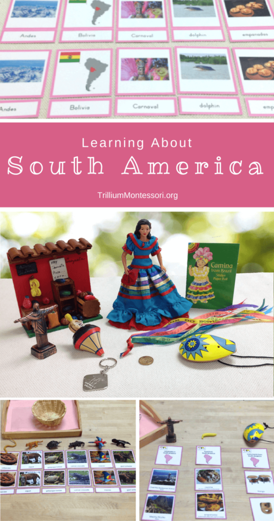 Learning About South America. Activities and ideas for a Montessori preschool classroom.