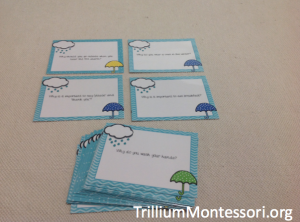 Reasoning Question Cards for Oral Language Development