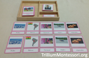 South America A to Z three part cards