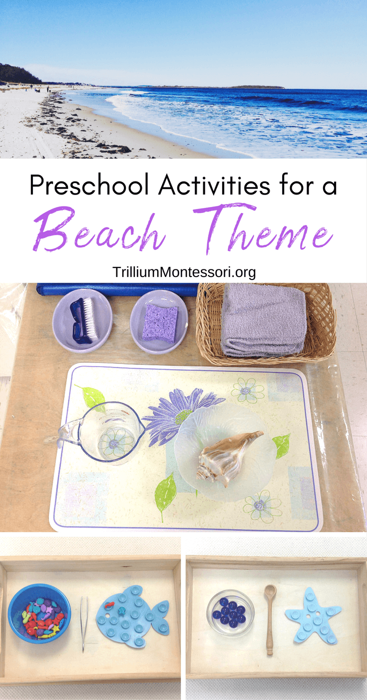 Simple preschool activities for a beach theme