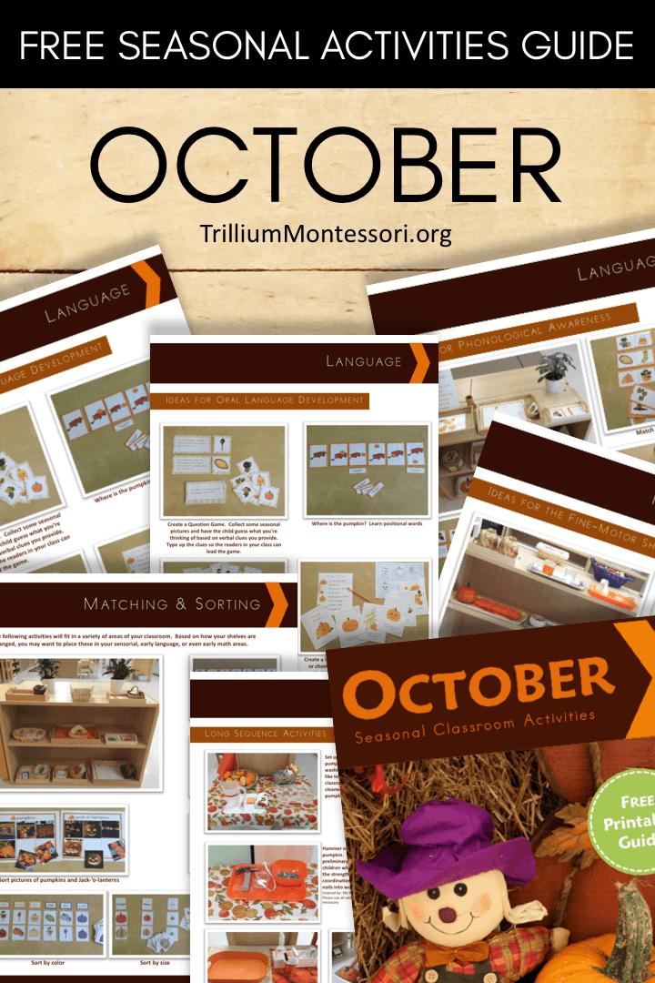 Free printable seasonal guide October