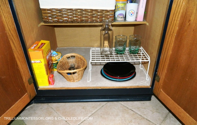 Small Space Kids Kitchen Low Cabinet Uses At Trilliummontessori.org