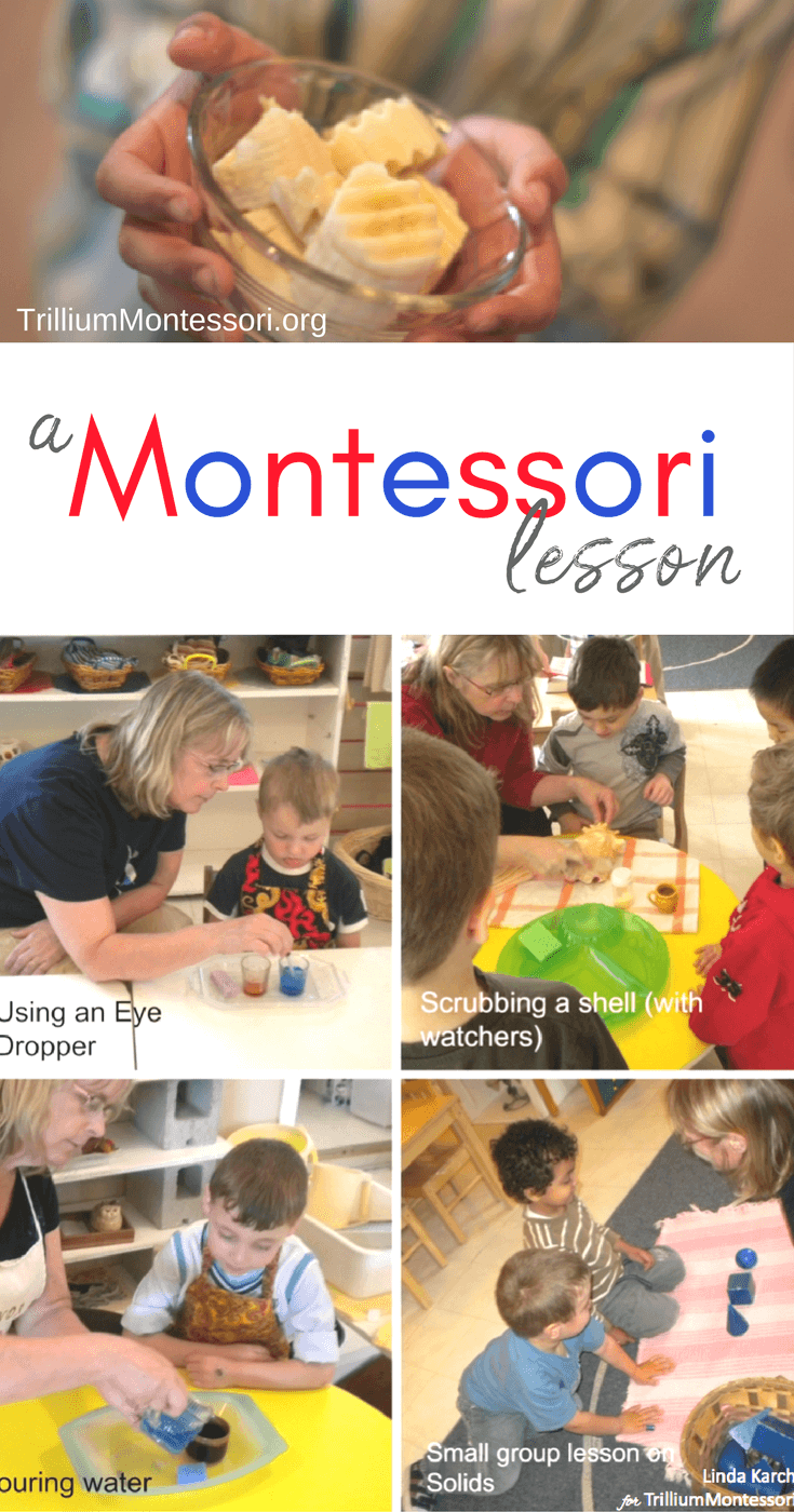 What is a Montessori lesson?