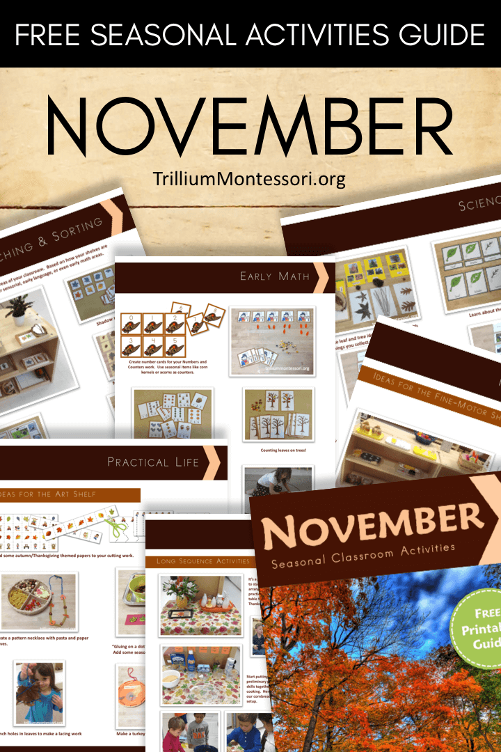 Free Printable: Get Ready for November - Trillium Montessori