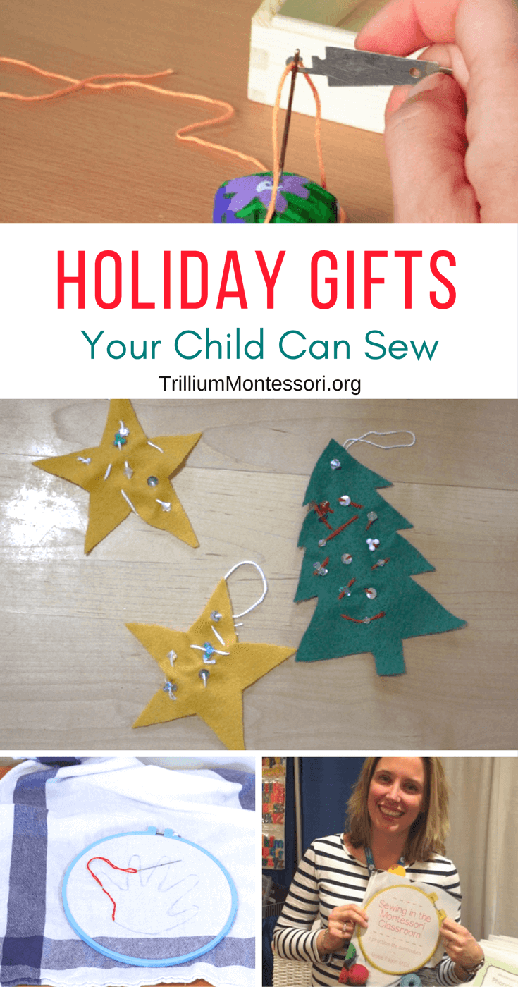 Sewing projects for kids, great for holiday gifts!
