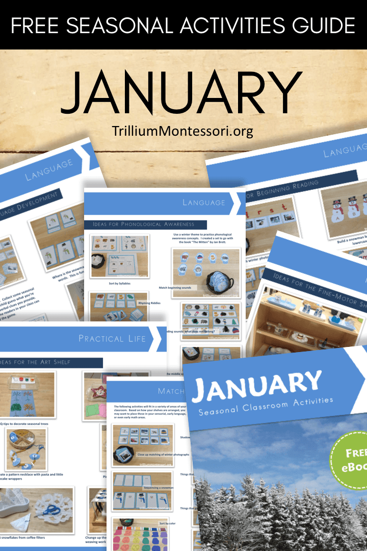 Free printable seasonal guide January