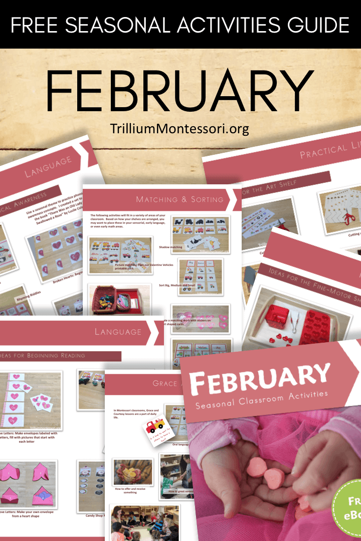 Free printable seasonal guide February