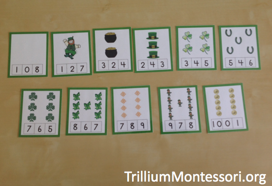 March preschool activities 0-10 number clip cards