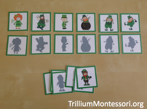 March preschool activities Shadow matching