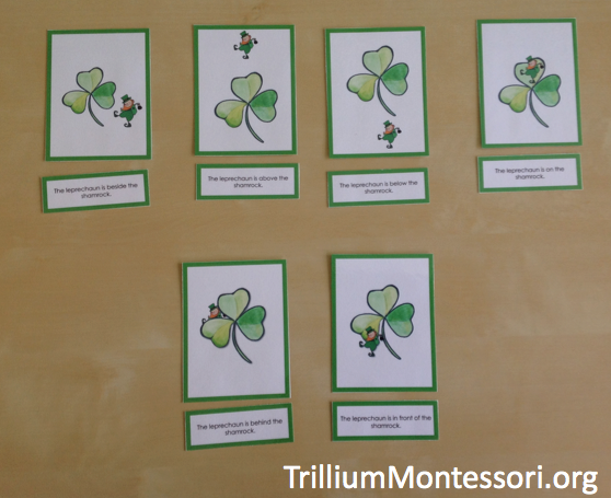 March preschool activities learning positional words