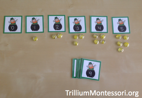 March preschool activities number cards 0-10