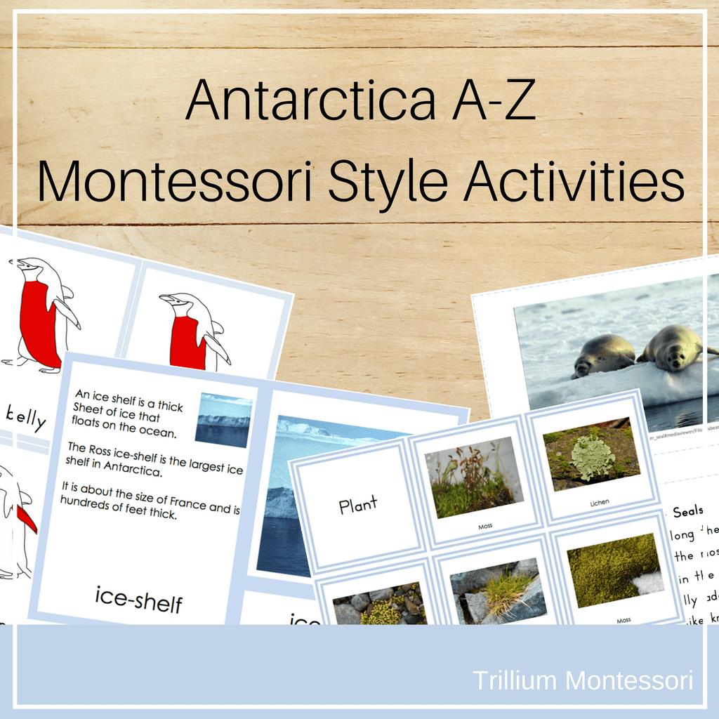 Antarctica A-Z Montessori Style Activities