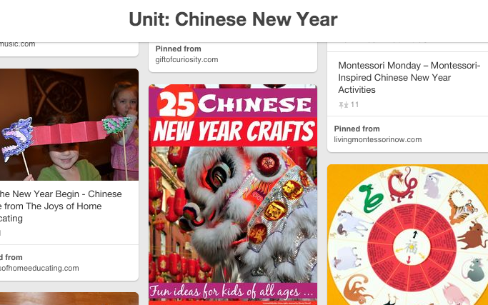 Chinese New Year Unit Pinterest Board
