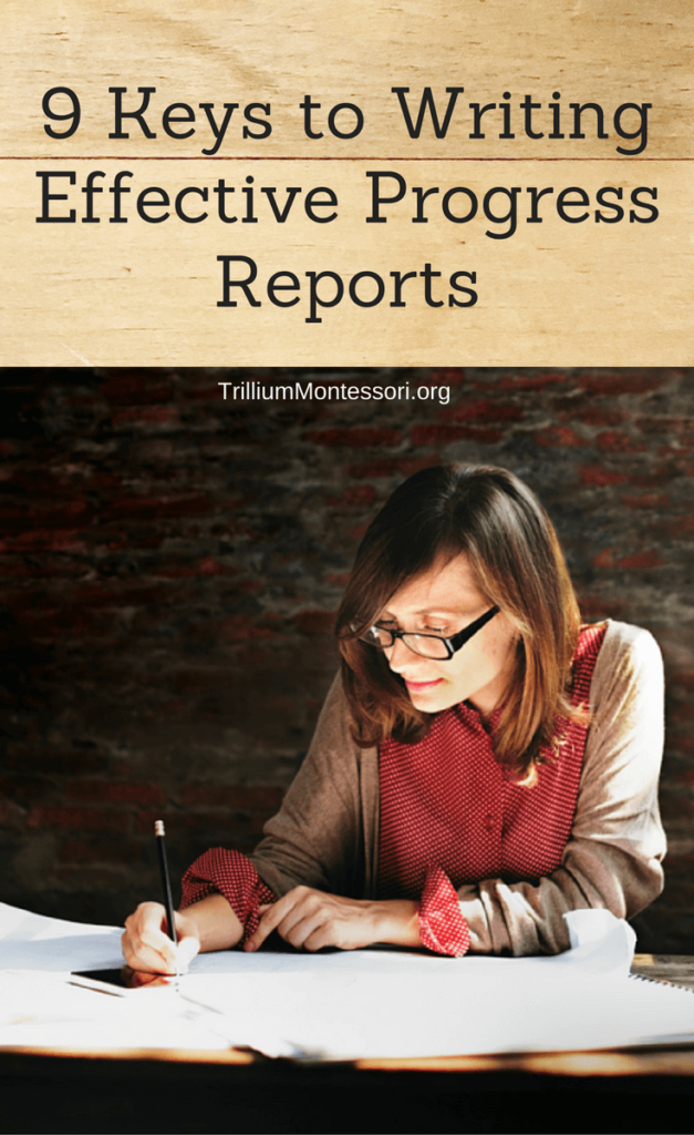 9 tips for writing effective Montessori progress reports and report cards for teachers