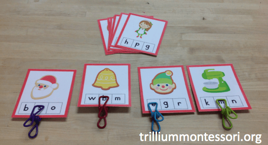 december-initial-letter-clip-cards